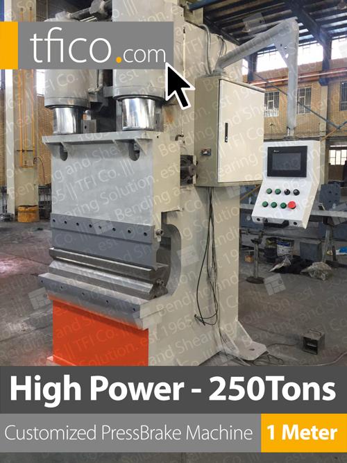 machine, press brake, bending, tfico, solution , machinery, 250 tons, ss bending, sheet, metalworking, uae, saudi, qatar, kuwait, oman,