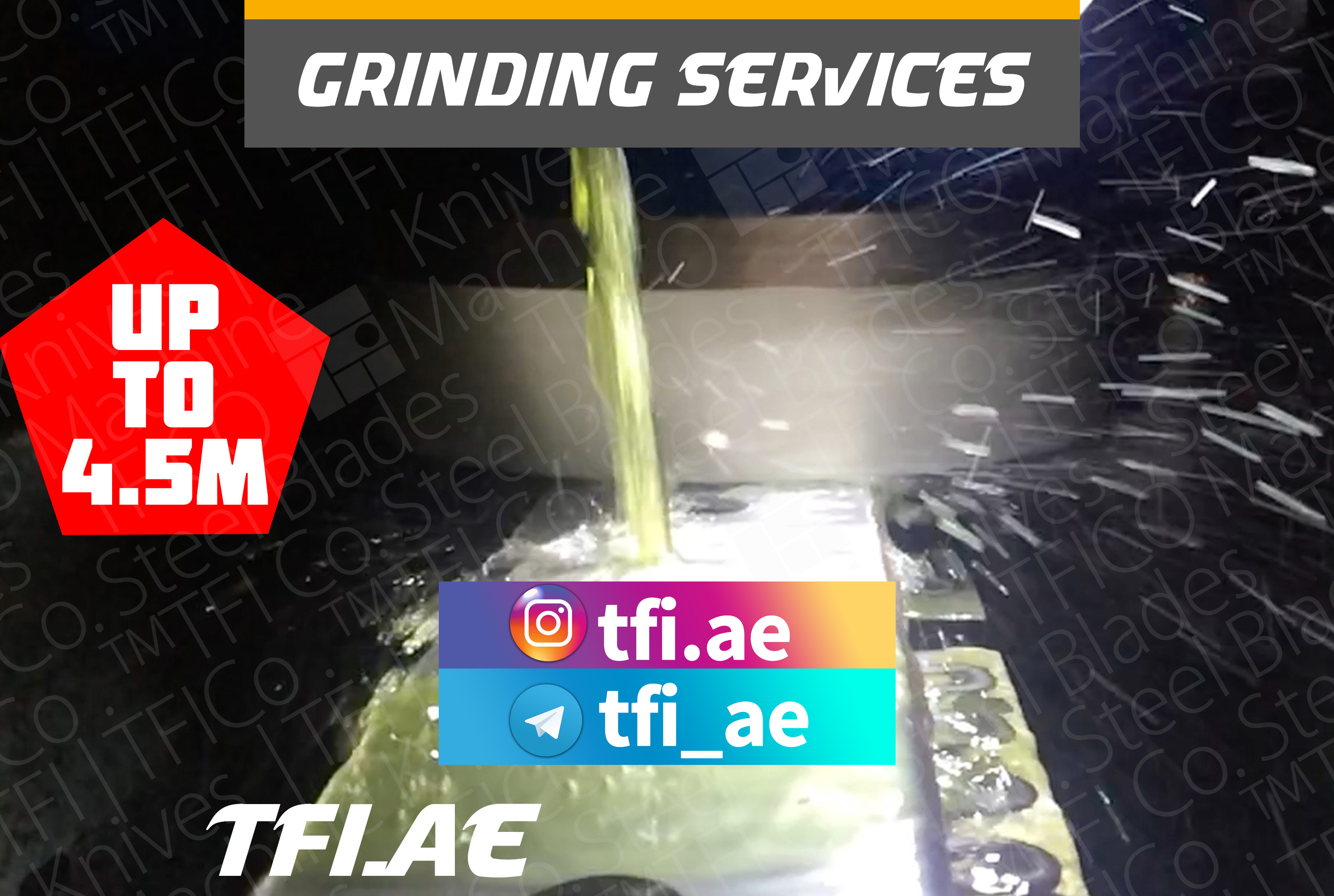 regrinding, surface grinding, grinding , re , sharpening, tools, knives, uae , saudi , oman , qatar, middle east, industrial , tfico