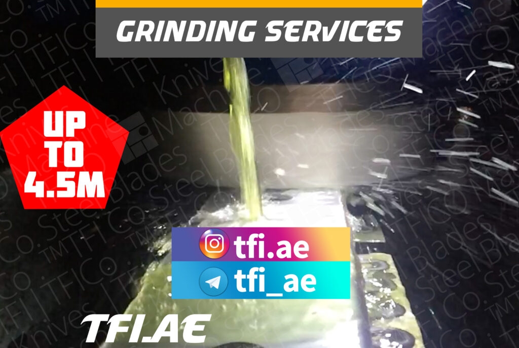 regrinding, surface grinding, grinding , re , sharpening, tools, knives, uae , saudi , oman , qatar, middle east, industrial , tfico