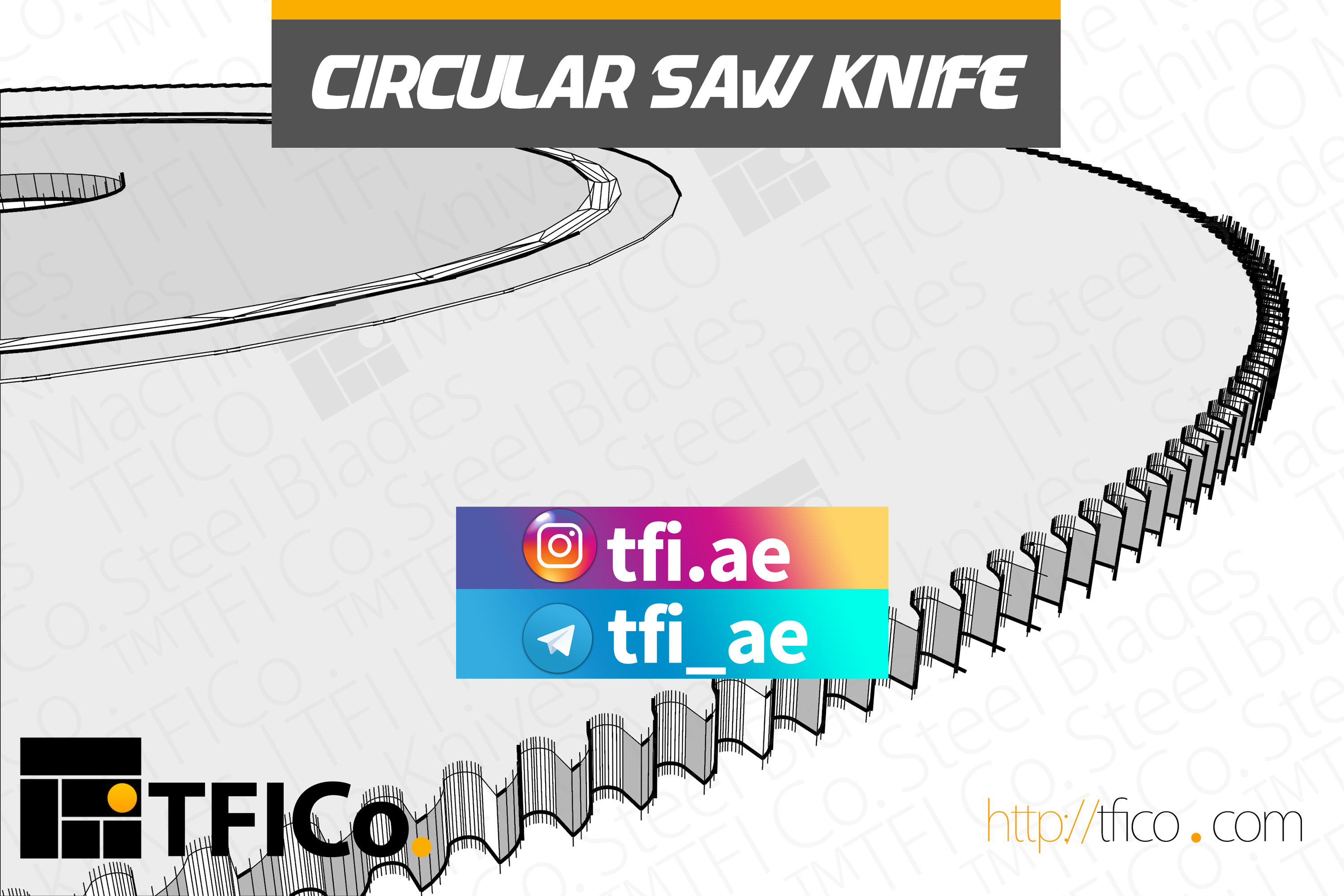 Circular saw Knife, tfico ,uae, grinding, re sharpening