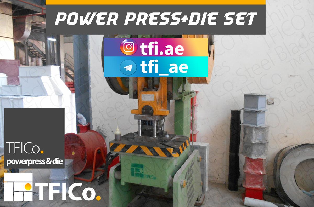 power press, uae, machinery, setup die, punch, progressive, hinge maker, tfico, dubai, industrial ,