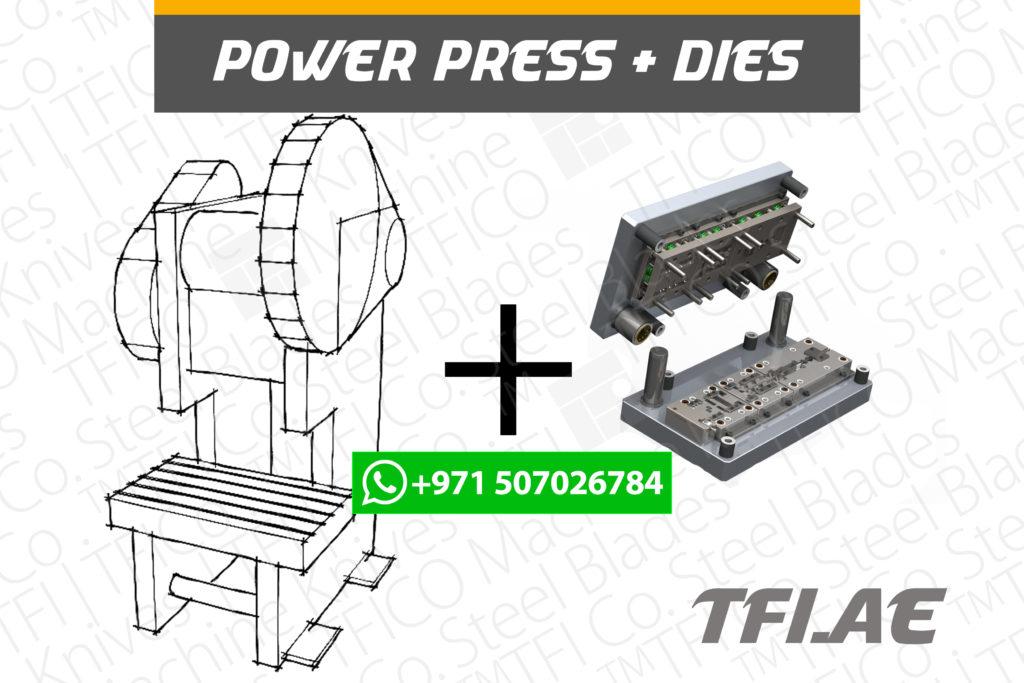 power press, machine, tfico, progressive , dies, steel , blades, heat treatment, steel alloy , saudi, ton, capacity, power, high