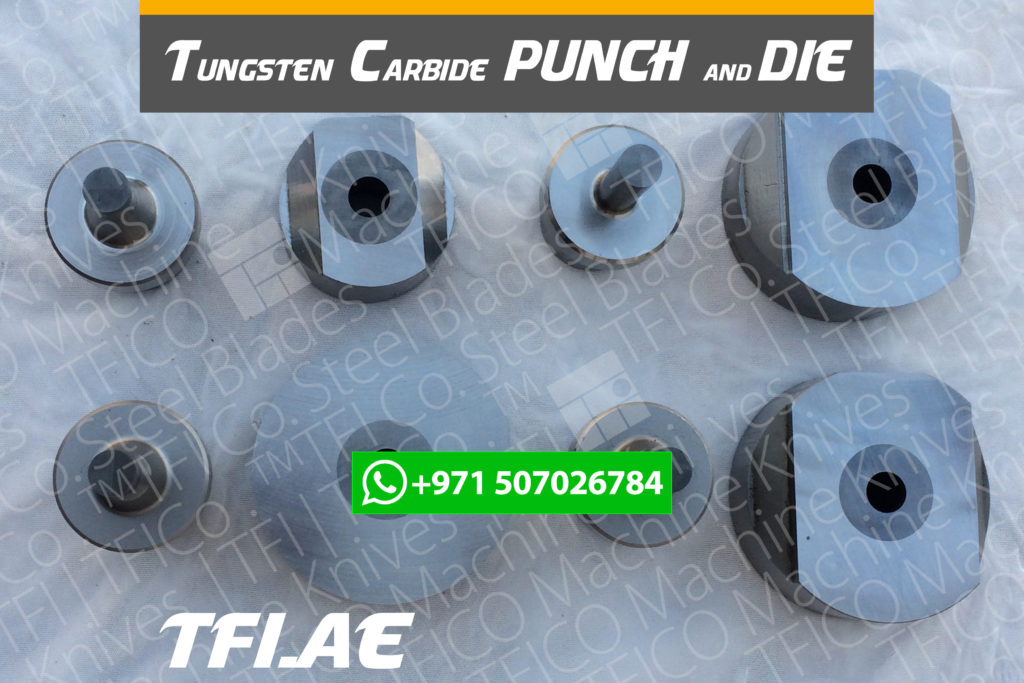 punch and die, for making hole, tungsten, carbide, georg, punch, die grinding, re sharpening, regrinding, shear blade, hole, matrix, cnc, machine, saudi, uae, dubai, qatar, tfico, machine kninves, in laid, tc, u.a.e, george